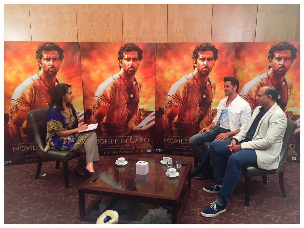 #MohenjoDaro out Friday. My interview with @iHrithik, Ashutosh Gowariker https://t.co/rqJXaCqblj #Bollywood #Reuters https://t.co/ins3UDPQ33