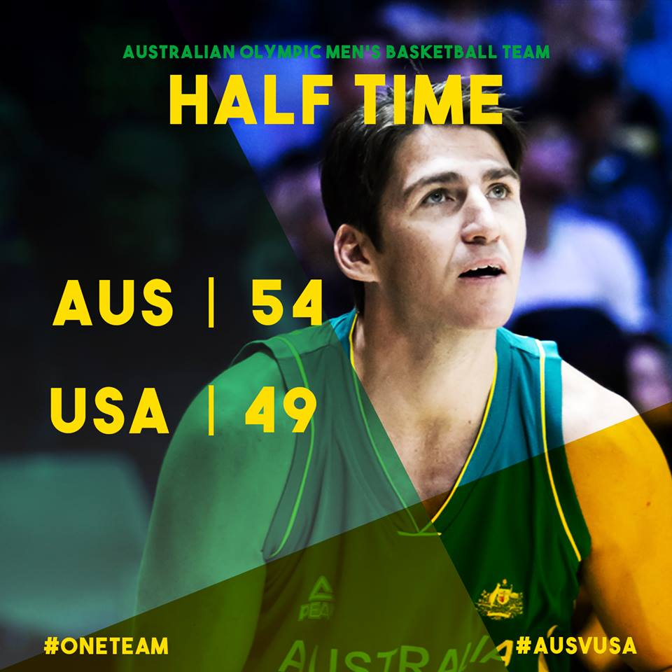 Mills with 15pts on 4-4 3PT shooting, Bogut with 13pts on 6-6 shooting, Andersen with 10pts & Delly has 3pts, 9asts!