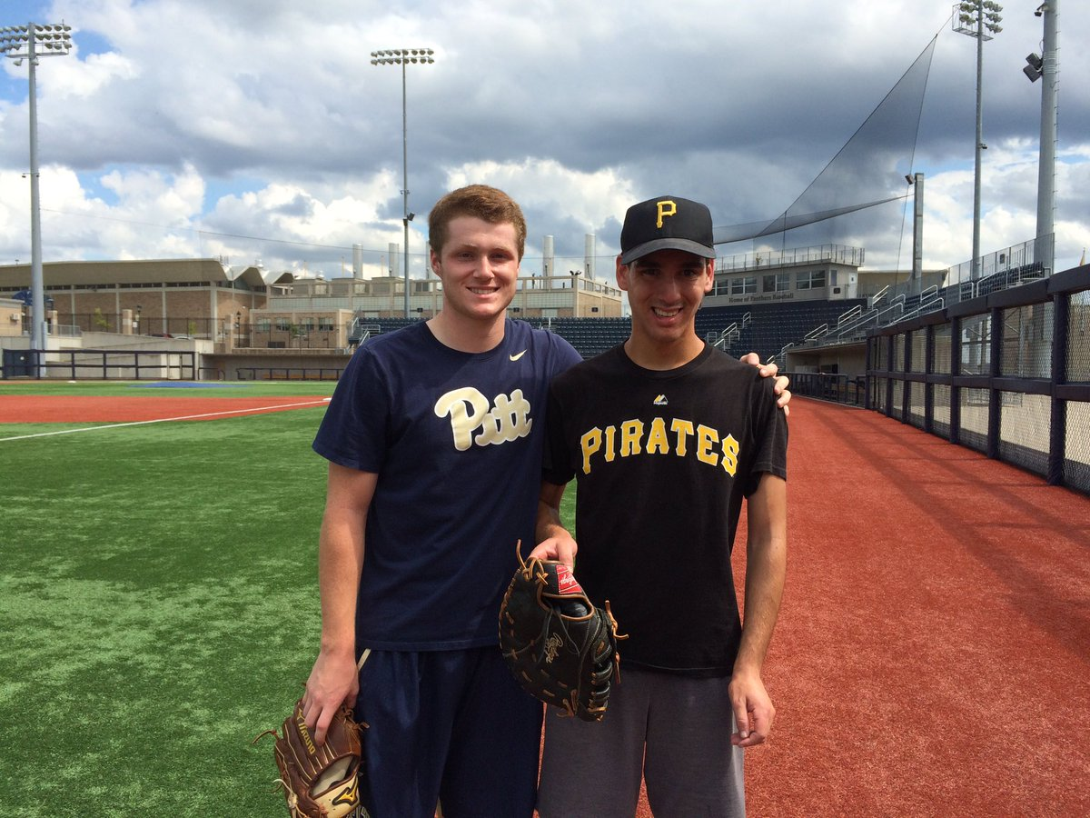 """pitt baseball on twitter: """"freshman nico popa welcomed a guest to"""