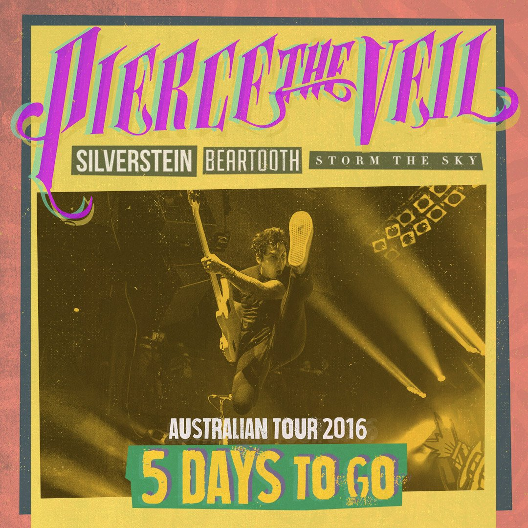 Pierce The Veil On Twitter Five Days Australia Who Has Picked Up