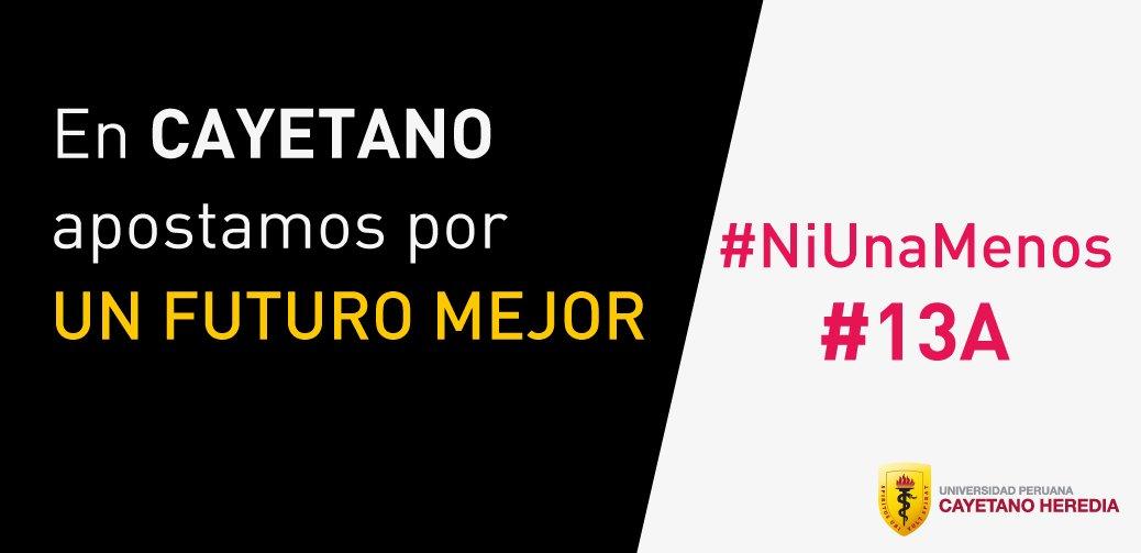 En Cayetano todos apostamos por un futuro mejor, por ello nos sumamos a #NiUnaMenos. https://t.co/P2o2guZbMK