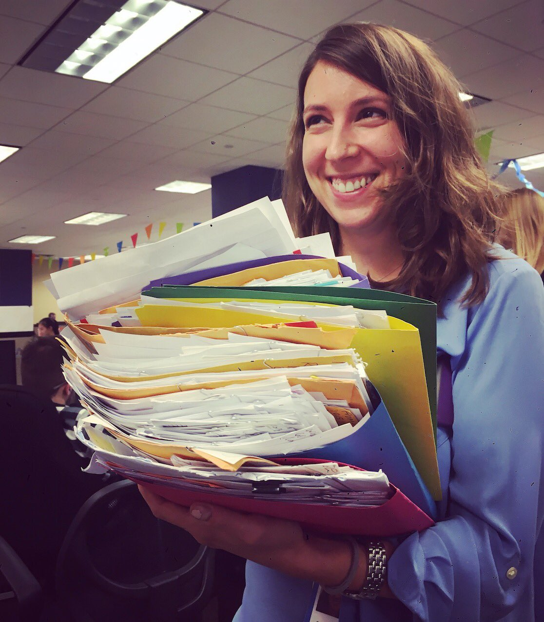 RT @kristina_schake: .@rebeccachalif & a big stack of letters to @HillaryClinton from little girls excited for the first woman president ht…