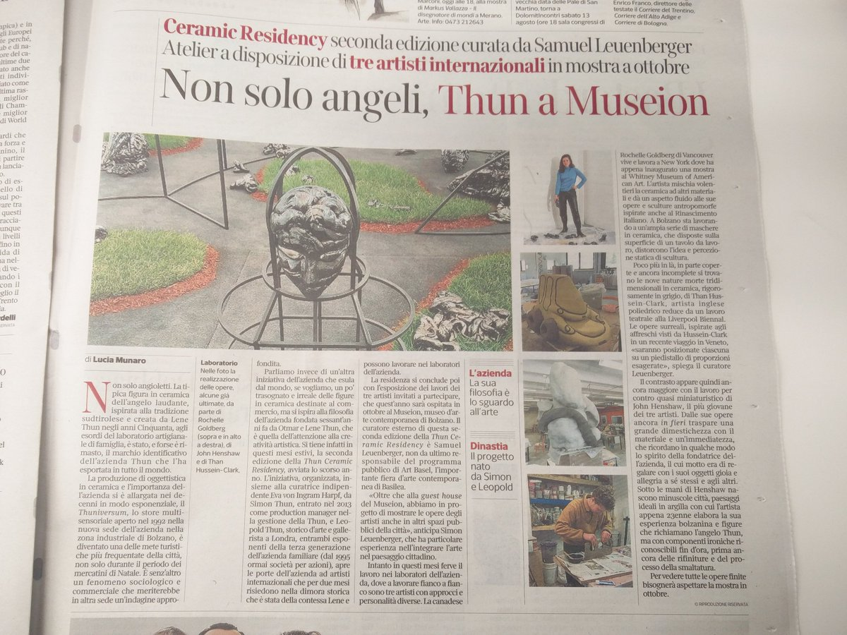 """In Arte Nino 2016 museion on twitter: """"thun ceramic residency coming soon at"""