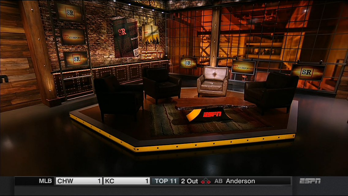 Powerful ending to @SportsCenter John Saunders tribute tonight. Empty Sports Reporters hosting chair https://t.co/8uS83SQfwd