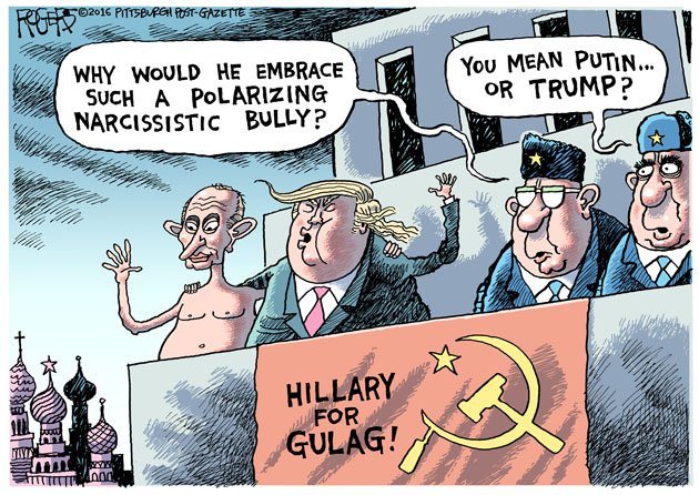 Image result for Trump in Russia cartoon