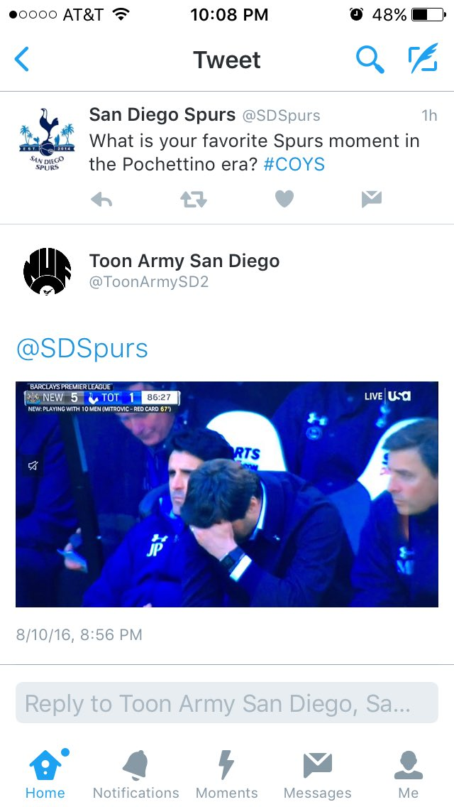 Hahaha @ToonArmySD2 you guys are cold blooded! Our favorite moment as well! cc: @SDSpurs https://t.co/c1zEbmg4zL