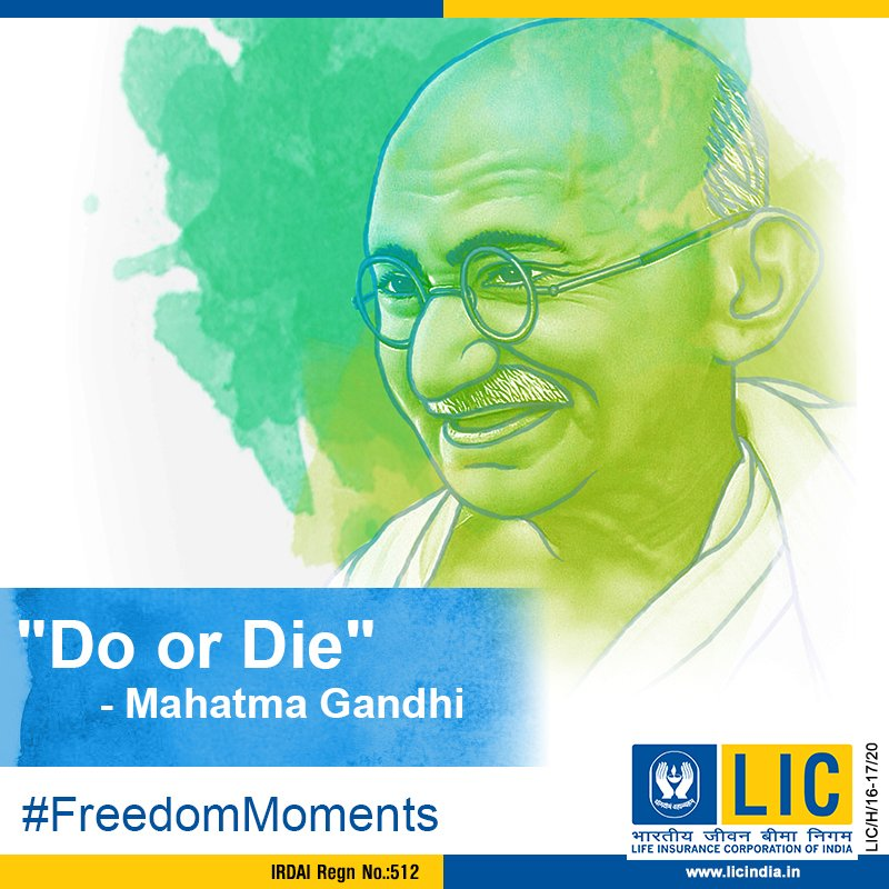 Lic India Forever On Twitter This Slogan By Mahatma Gandhi Was A