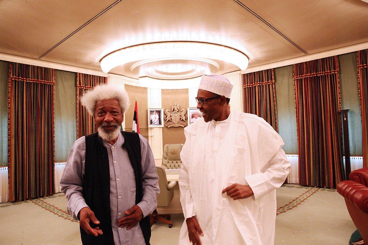 PHOTOS: Wole Soyinka Visits Buhari