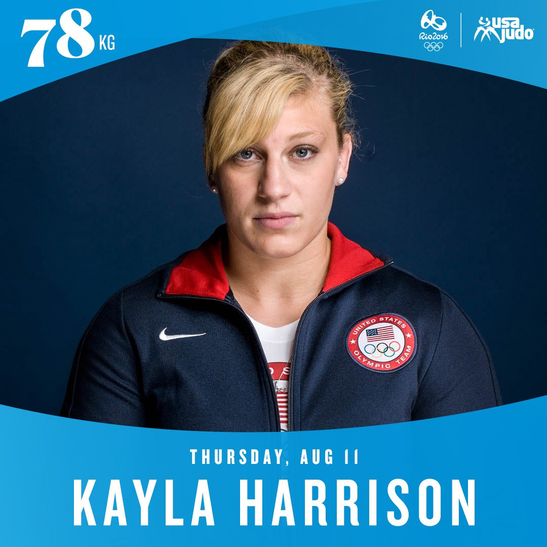 Kayla Harrison fights today in Rio on Mat 1! Competitions start at 9:00am ET! Let's go @Judo_Kayla ! https://t.co/rQrzk687GV