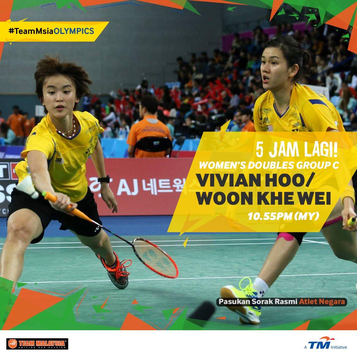 "Team Malaysia on Twitter ""UPDATE Beregu MAS Vivian Hoo Woo Khe"