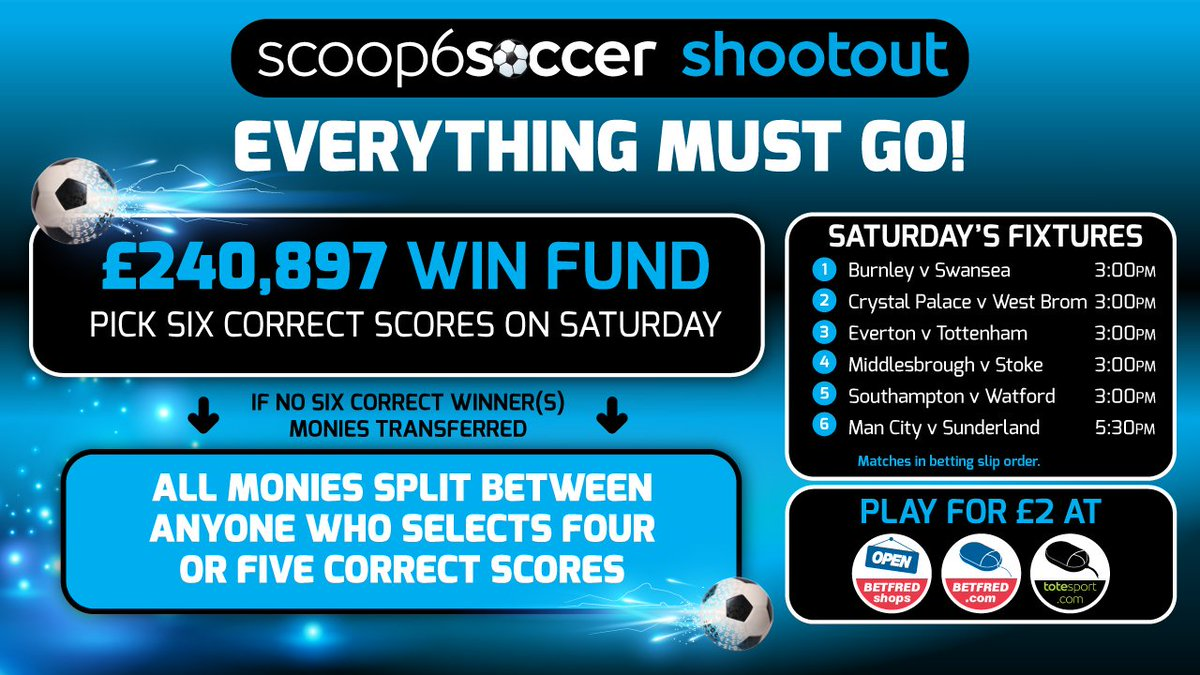 Betfred Scoop6 Soccer