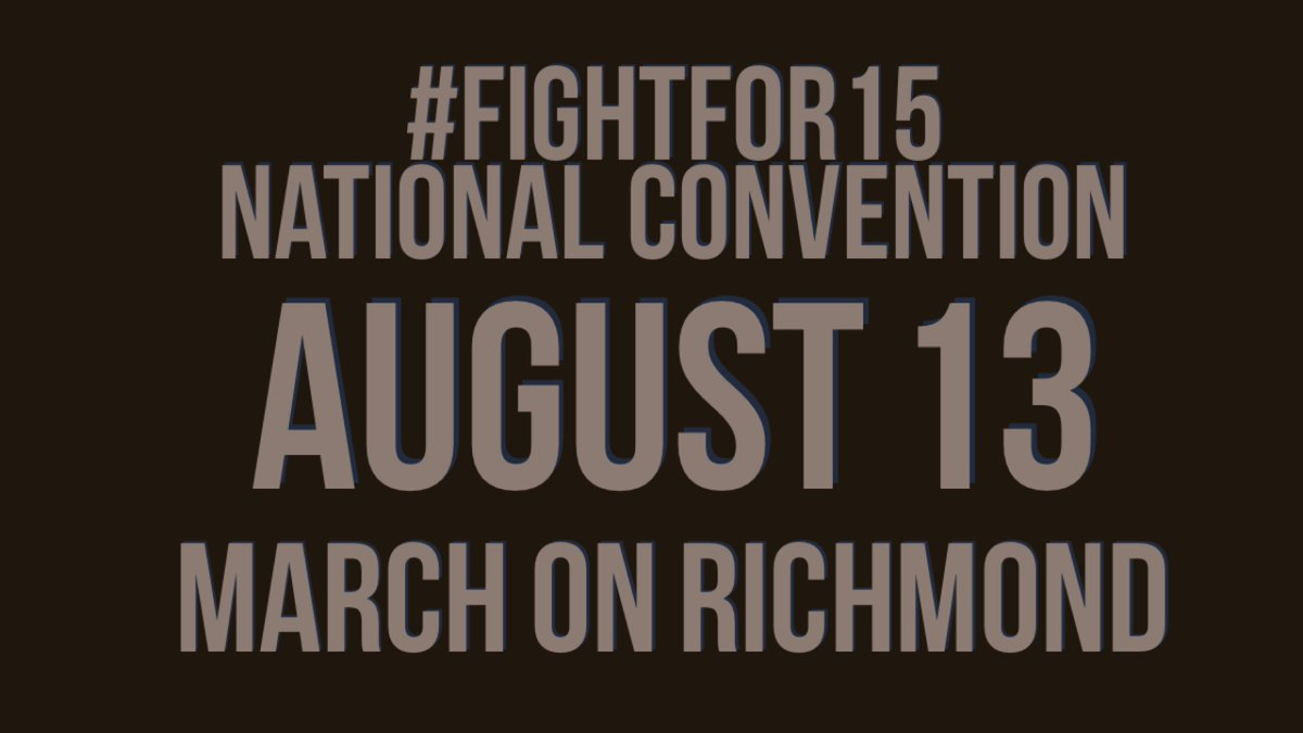 Who's ready for a workers' convention? #FightFor15 https://t.co/YvhE4UI5QZ