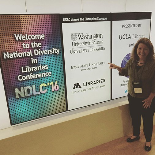 @IowaStateU Library Dean @bethmcneil at #NDLC16 https://t.co/iYBqjFBXqn