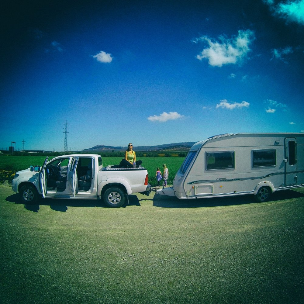 Caravan Yoga - Paused on the road to catch a bit of sun #caravan #digitalnomad #travel #yoga #spain https://t.co/i3cwn5Izaj