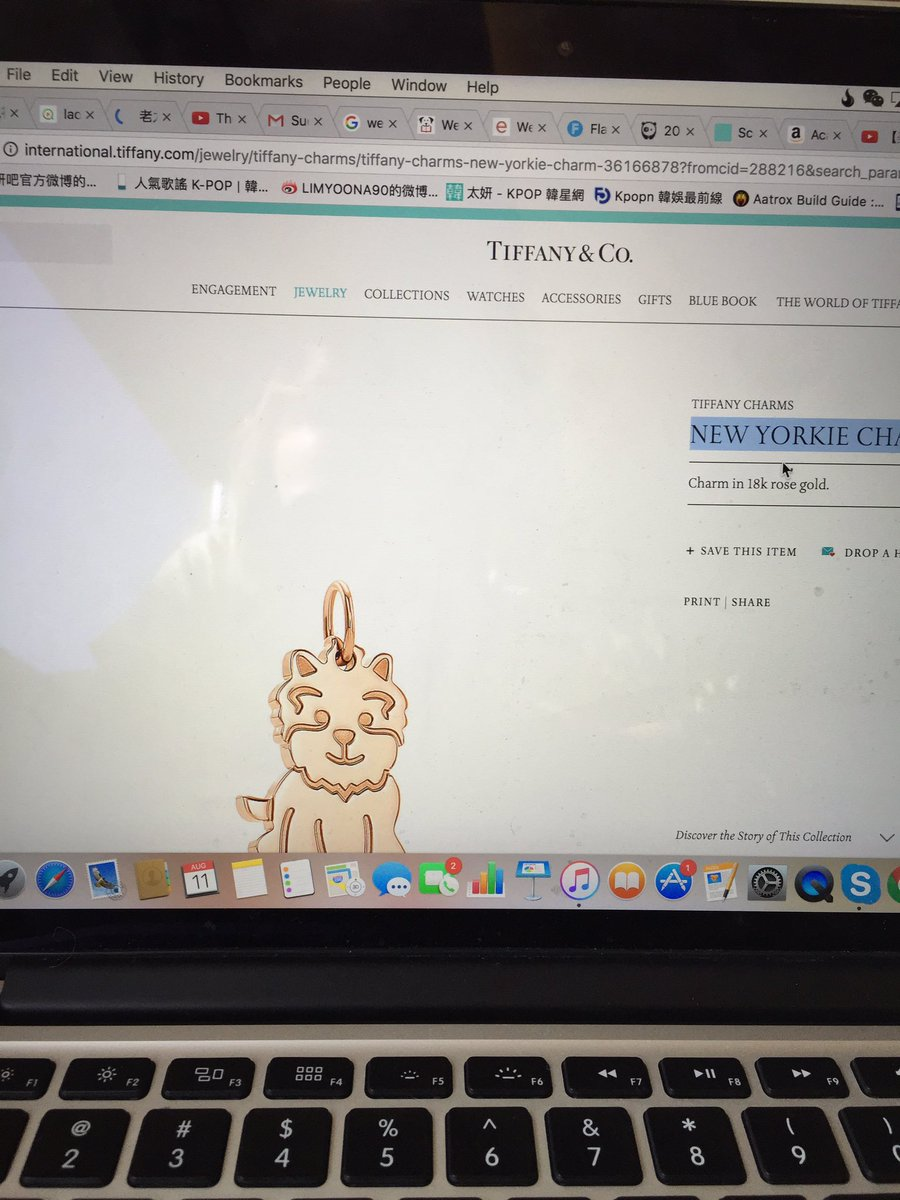 Tiffany Charms New Yorkie charm in 18k gold Tiffany & Co. brPOC