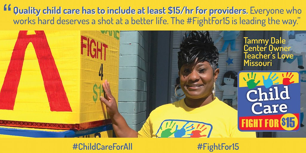 EVERYONE who works hard deserves a shot at a better life.  #FightFor15 #ChildCareForAll https://t.co/qYn9XwPA7E