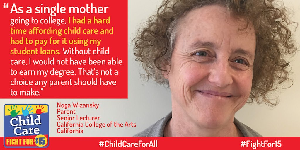 Paying for childcare often leads to difficult choices for parents. We can do better. #FightFor15 #ChildCareForAll https://t.co/Sr74YdvuiF