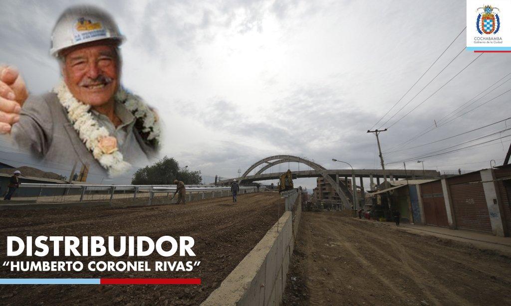 #ÚLTIMO El distribuidor de la Av. Barrientos llevará el nombre del exalcalde de #Cochabamba Humberto Coronel Rivas.