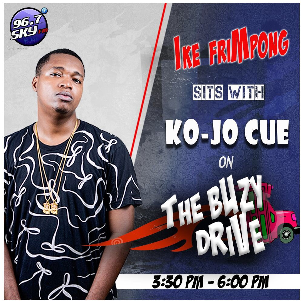 @KOJO_Cue rides with me today on #THEBUZYDRIVE https://t.co/E5hdGMKCWl
