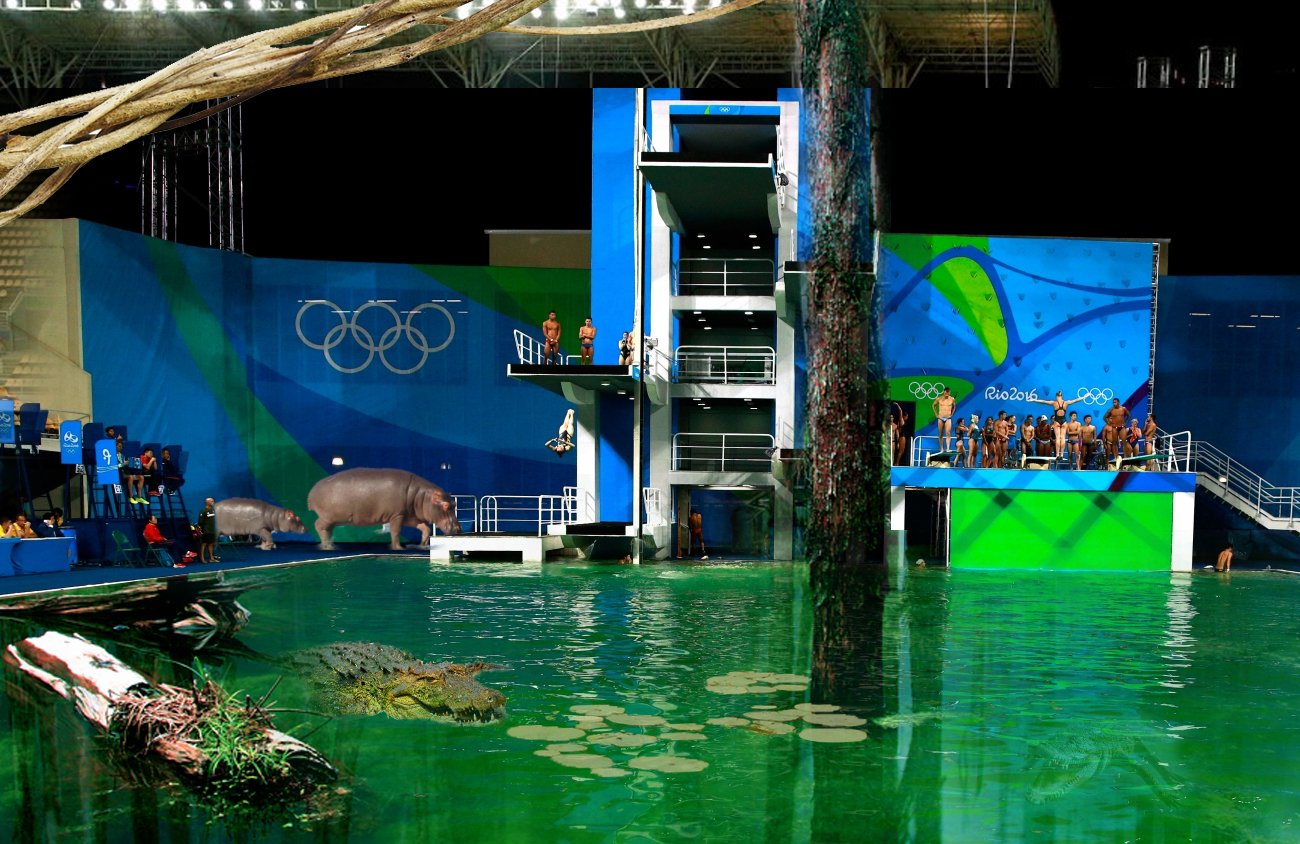 Bloody hell! That green diving pool at #Rio2016 has got even worse. https://t.co/1FPMB9mc4h