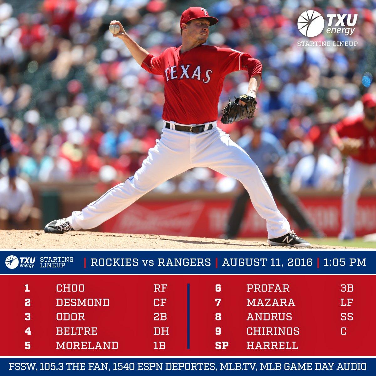 ALWCT 8/11: Rangers Vs. Colorado, 1:05 P.m. CST