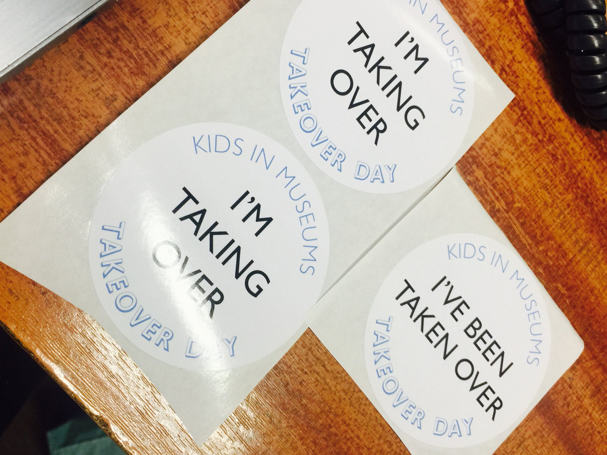 Tomorrow is #TakeoverDay and we've got the badges ready and waiting for our #teens. @kidsinmuseums https://t.co/HCkN72uywb