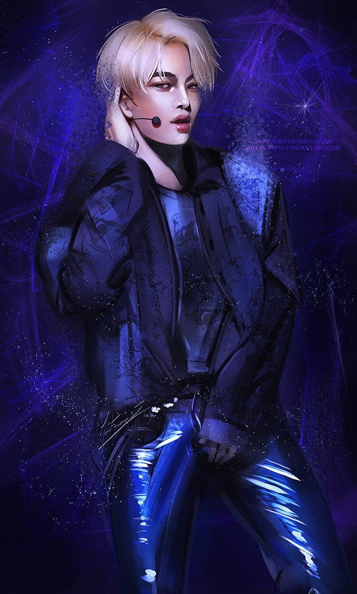 Patricia On Twitter Kai From Exok Exo Stage Digital Painting