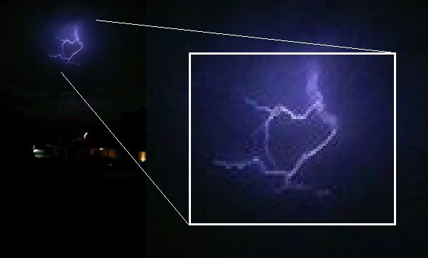 With A Christina Ybarra Sent Us This Shot Of Heart Shaped Lightning Strike