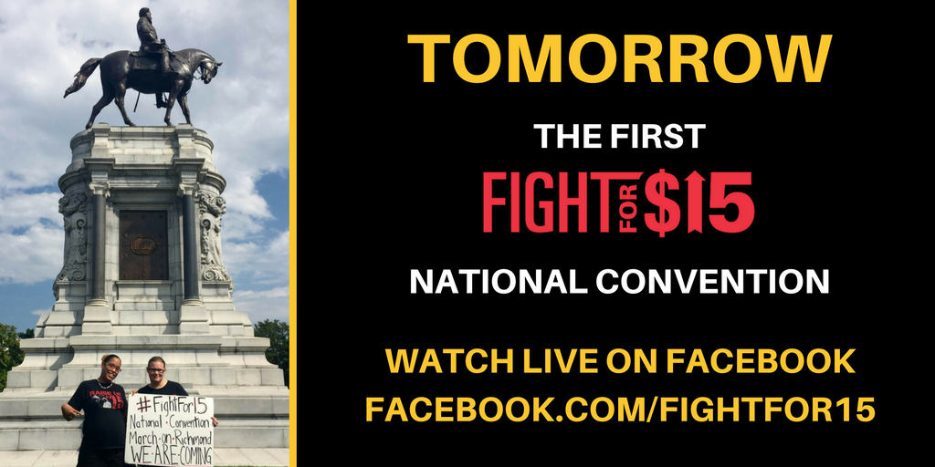 Tomorrow the #FightFor15 National Convention begins. Like our FB page to watch ever minute https://t.co/Rl8gM4iVnd https://t.co/DNssVTDjqj