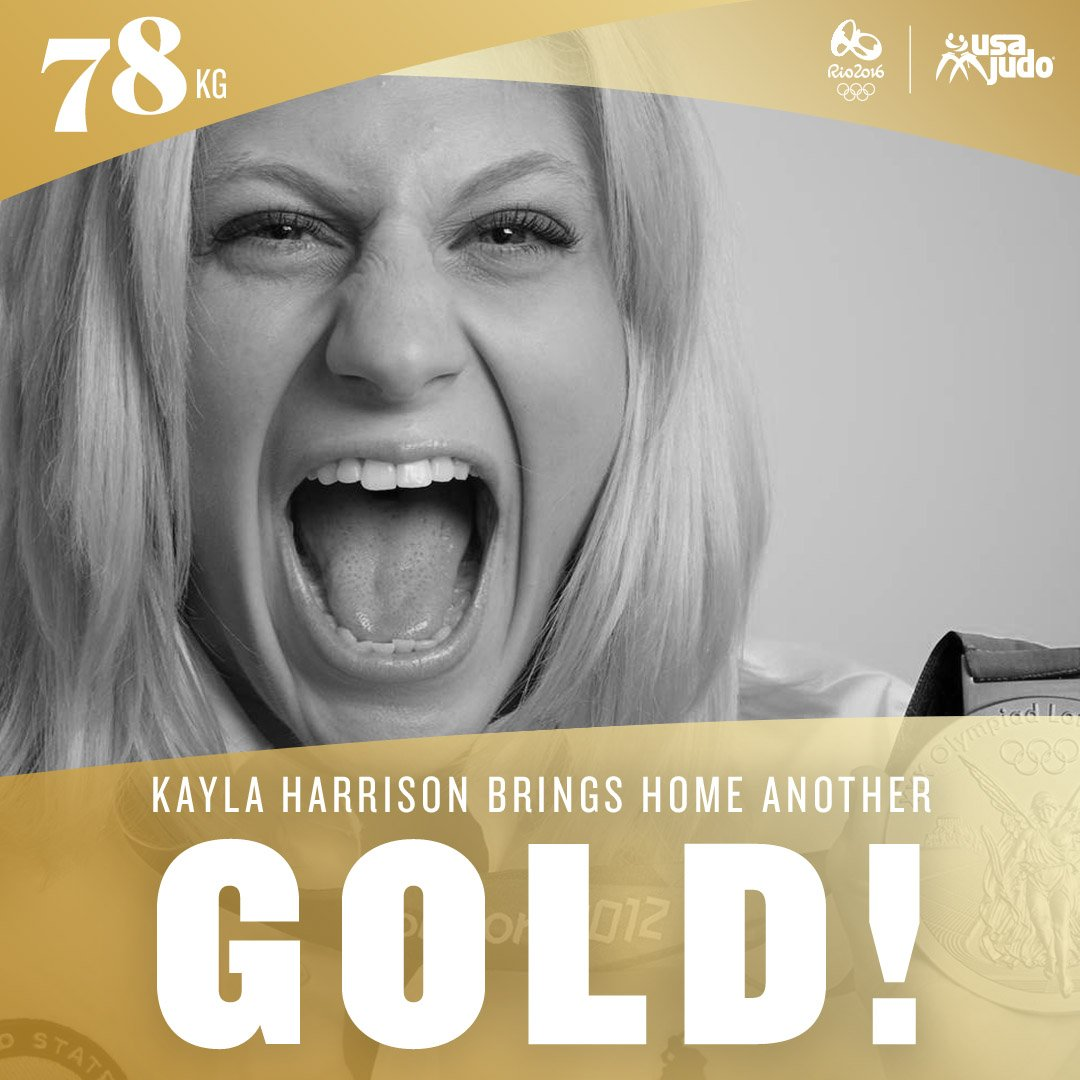 Kayla Harrison WINS GOLD! Congratulations @Judo_Kayla! https://t.co/xtKUSpwKRs