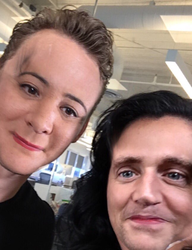 I might regret posting this but @twhiddleston said to go for it. Our FaceSwap. (He apologized for not shaving.) https://t.co/zIoIpXtFac