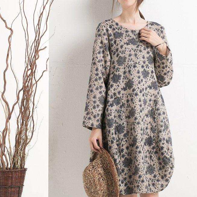 5bffc981d9c 2016 Cotton floral shift dress plus size spring dresses summer clothing: ...