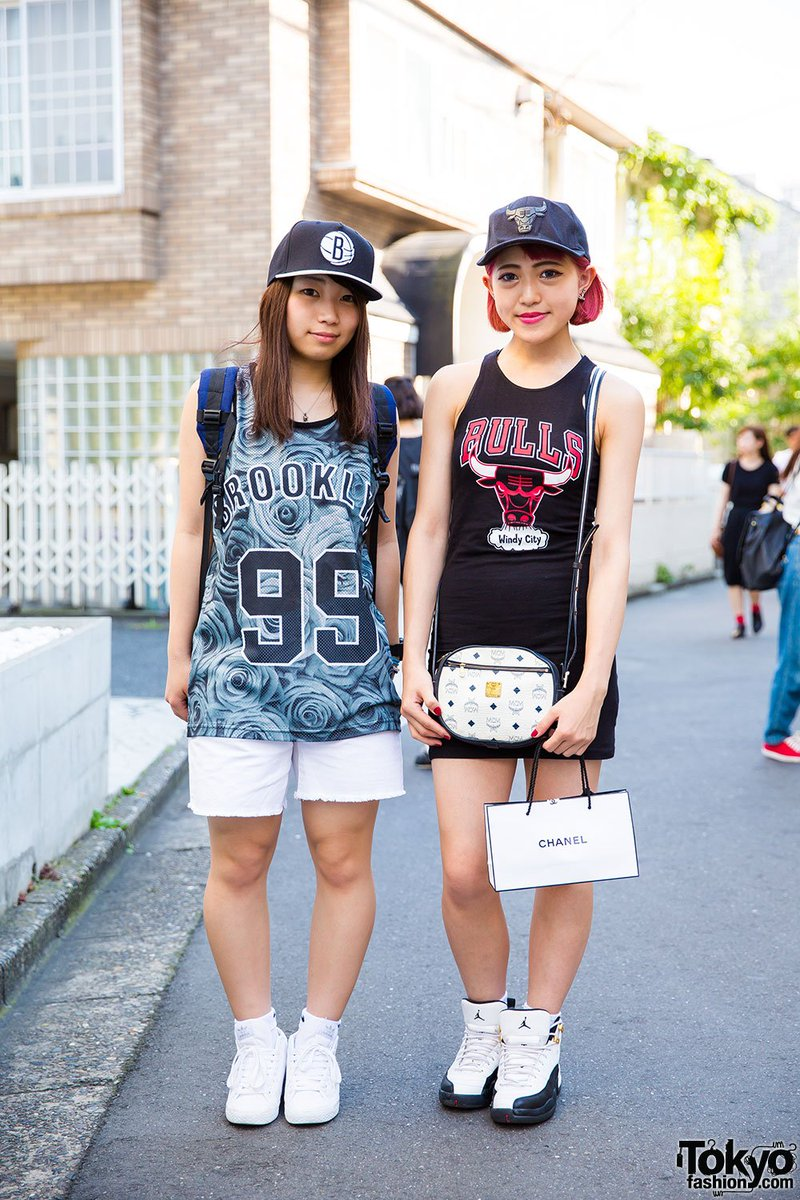 38ea905cfc1 harajuku girls in sporty chic w chicago bulls x girl vivienne westwood  adidas amp nike