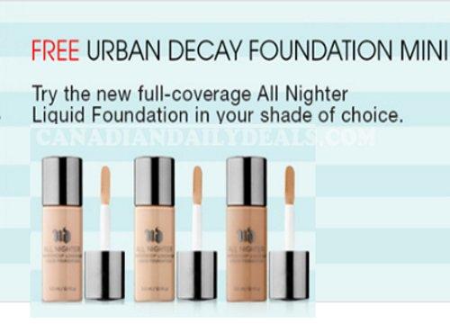 Sephora Free Urban Decay All Nighter Foundation Sample Promo Code #sephora #free #samples  http://www. canadiandailydeals.com/2016/08/sephor a-free-urban-decay-all-nighter.html?spref=tw &nbsp; … <br>http://pic.twitter.com/59ead3uEGQ