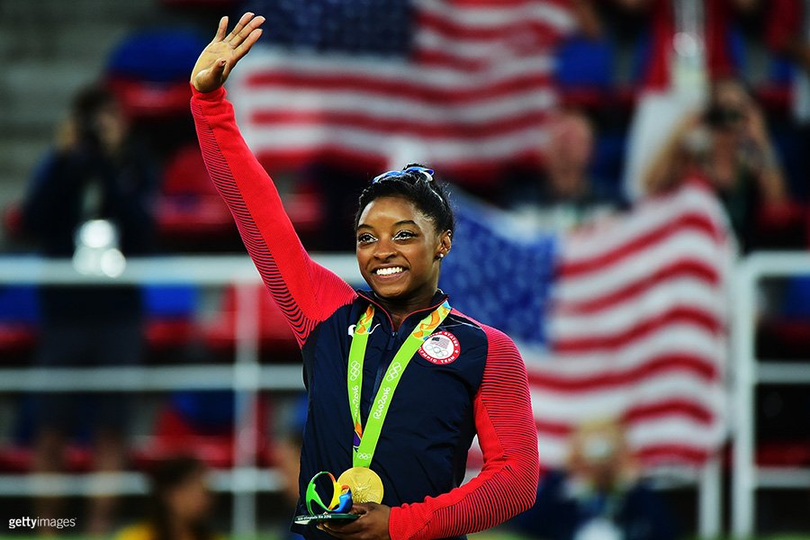 It's a great day to be a #TeamUSA athlete named Simone!  #Gold medals for both @Simone_Biles and @simone_manuel!!!