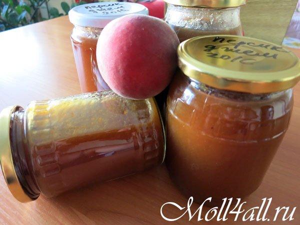 персиковый джем рецепт с фото пошагово