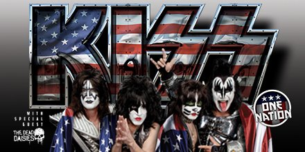 TONIGHT! @KISSOnline will be here! Doors scheduled to open at 6:30pm. Show at 8pm. Who's ready to rock?! https://t.co/cFANAmqKOp