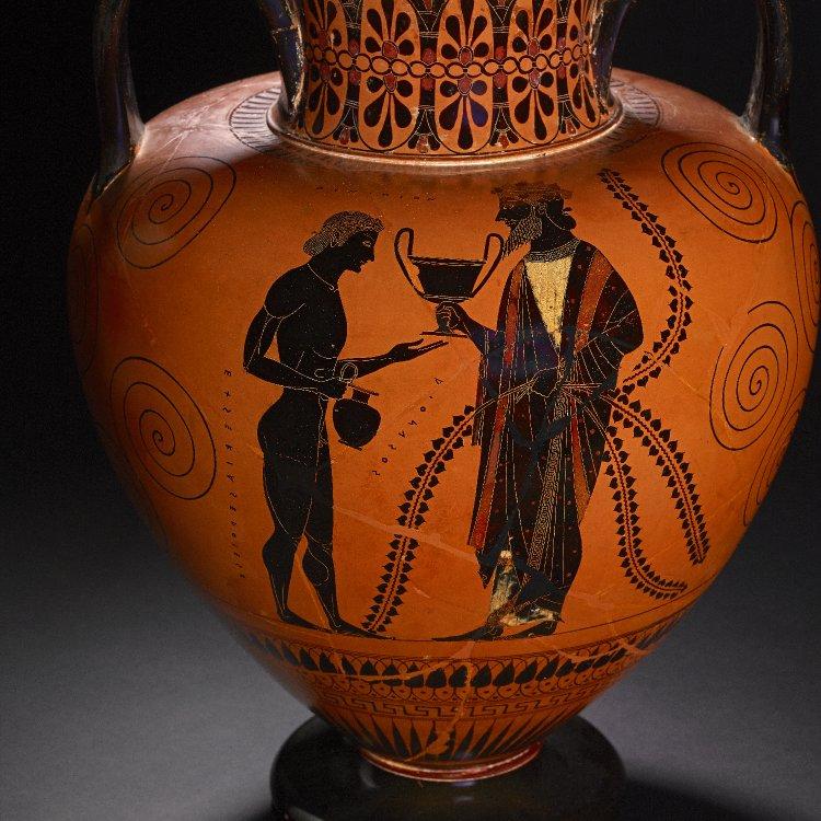Michel Lara On Twitter Black Figured Amphora Dionysus Sharing Wine