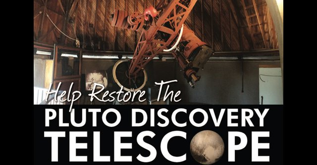 .@LowellObs flew by their goal to restore the #Pluto discovery #telescope! New goals added! https://t.co/6OJeLhs201