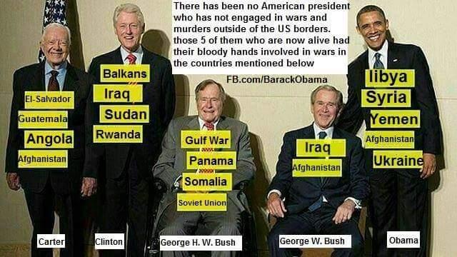 Αποτέλεσμα εικόνας για ΟBAMA, BUSH, CLINTON TERRORISTS