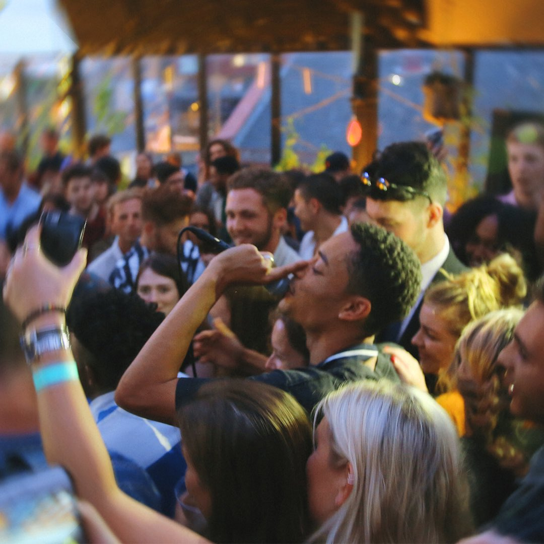 @LoyleCarner hopped off the BBQ to do a surprise performance at our launch party last week - it went a bit nutts