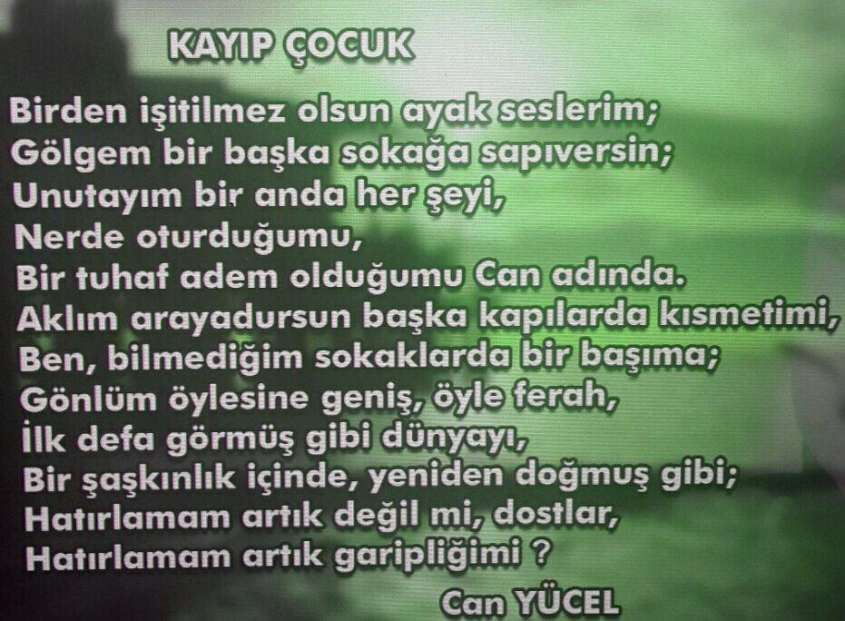 Meral Akçay On Twitter Rahmet Olsun En Sevdiğim şiiri Kayıp