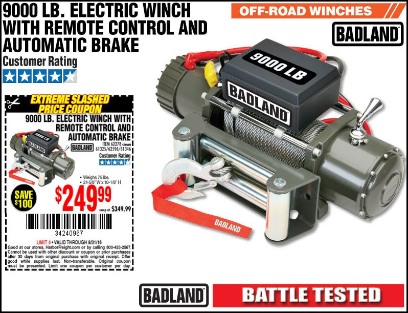 By Photo Congress || Harbor Freight Winch Coupon