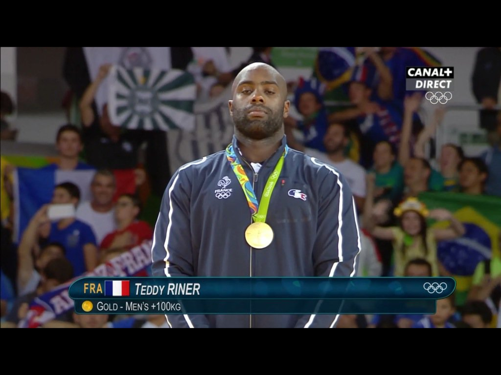 voil sa 2e m daille d or olympique champion teddy riner rio2016. Black Bedroom Furniture Sets. Home Design Ideas