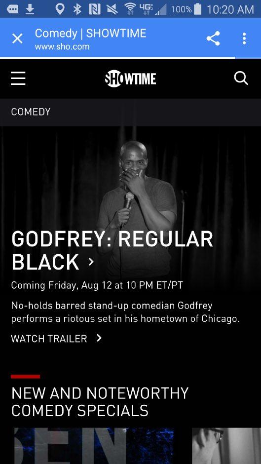 Check it! Tonight my friend @GodfreyComedian on Showtime! #regularblack #comedy #FridayFeeling https://t.co/AA1gPMeu6N