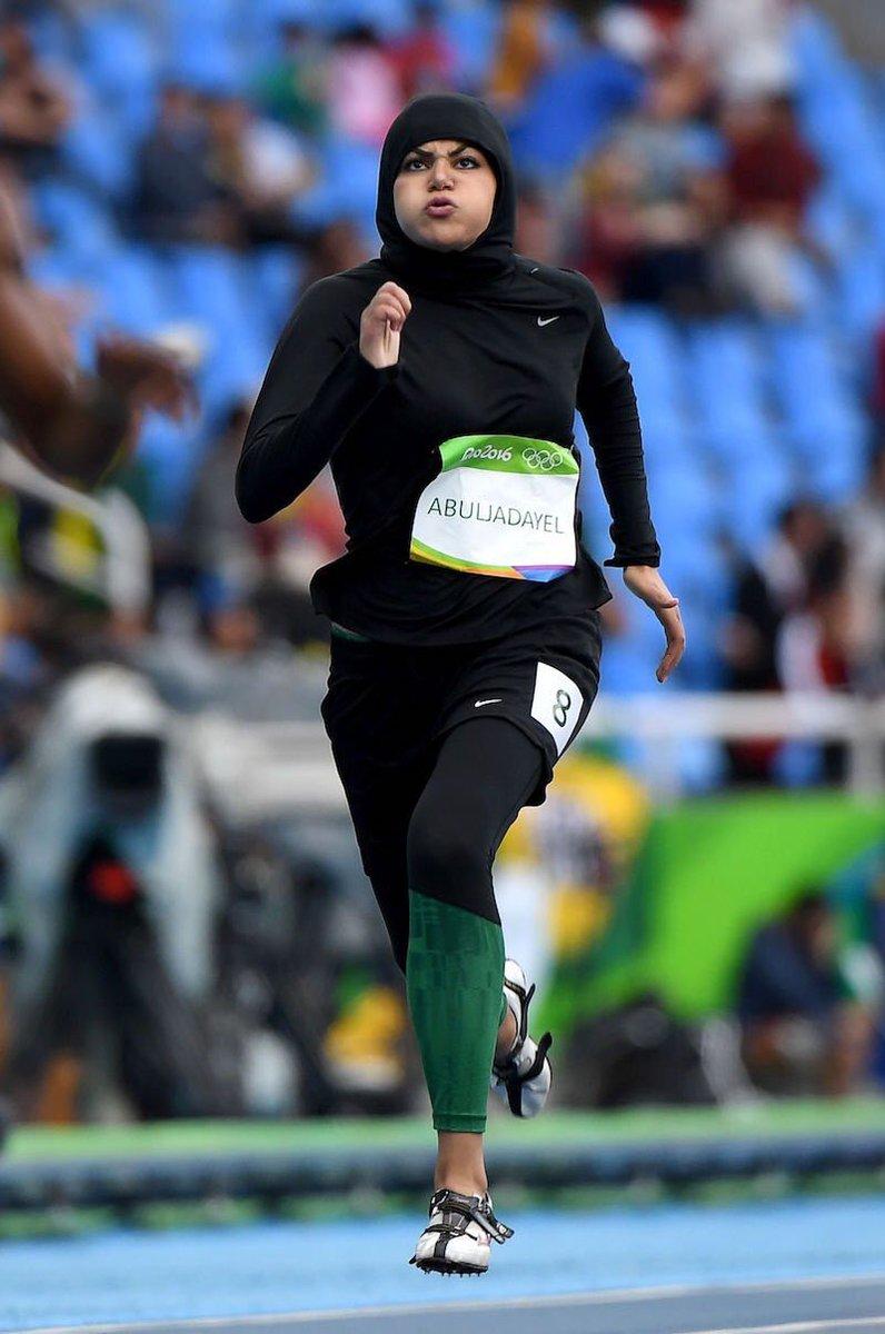 Saudi Arabia's first female Olympic sprinter Kariman Abuljadayel clocks 14.61 in 100 prelims #Rio2016 https://t.co/M5SZKuyoiv