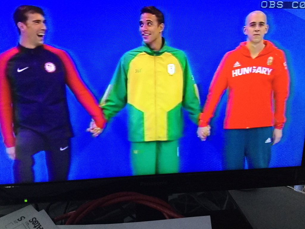 How fitting three way tie for African, European and North American swim Heroes... #silvermedalshortage https://t.co/bhfWpLmLMr
