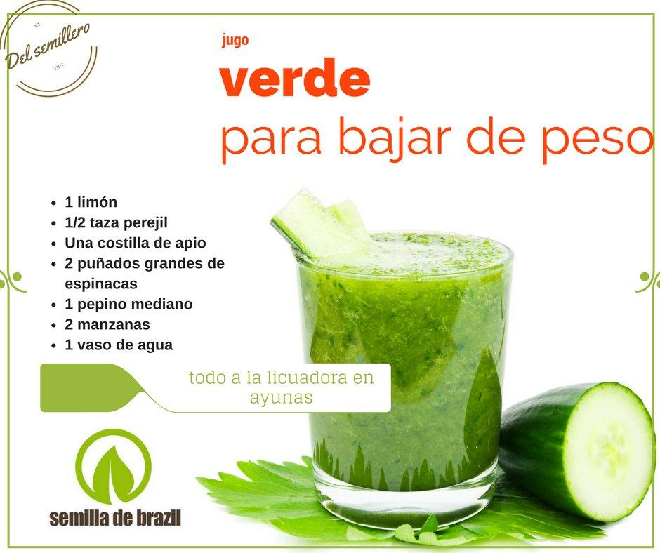 jugo verde para desmontar de balanza con pepino