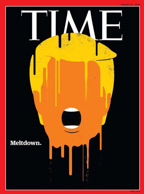 Time magazine uses melting face image to for its Donald Trump meltdown cover https://t.co/czRkbTZQnY https://t.co/IVewEorwbO