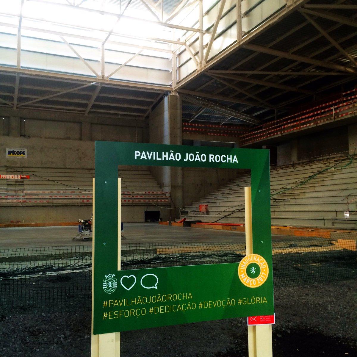 Um Pavilhão digno do seu nome. Para visitar hoje em Open Day até às 16.30 horas. Parabéns @Sporting_CP É lindo! https://t.co/XY04aIgWX3